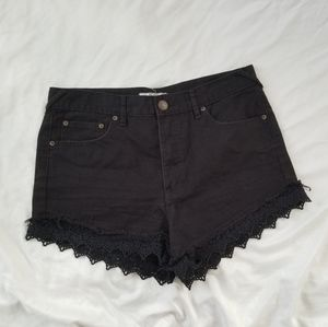 Free People Shorts w/ Lace Edges